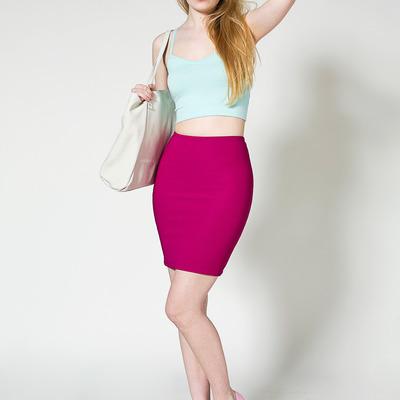 8c66b99cbdf American apparel pencil riding skirt in raspberry fuschia pink