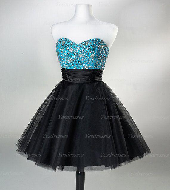 Short Homecoming Dress Black Prom Dress Unique Prom Dress Junior