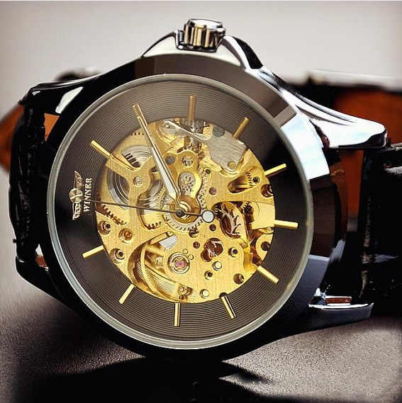 mens watches vintage watches handmade watches leather band watches chain hollow out mechanical
