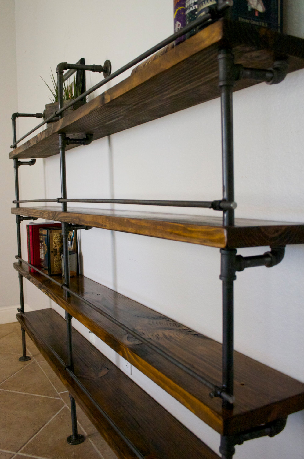 Industrial Shelving Unit (Industrial Bar, Industrial bookcase ...