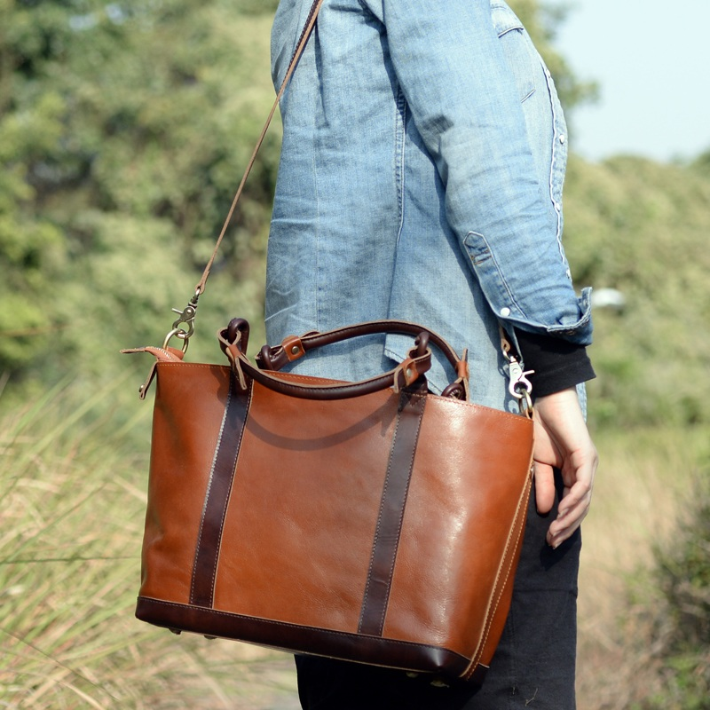 0793b3461f01 Women s Handmade Leather Handbag   Purse   Shoulder Bag   Messenger Bag   m19 - Thumbnail ...