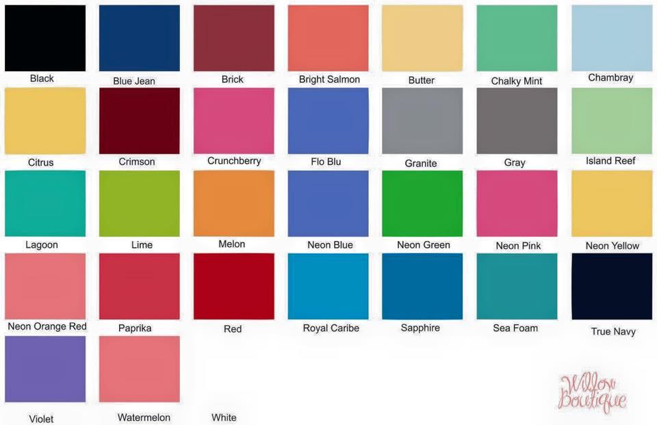 Comfort Colors Color Chart >> Comfort Colors Short Sleeve Tee