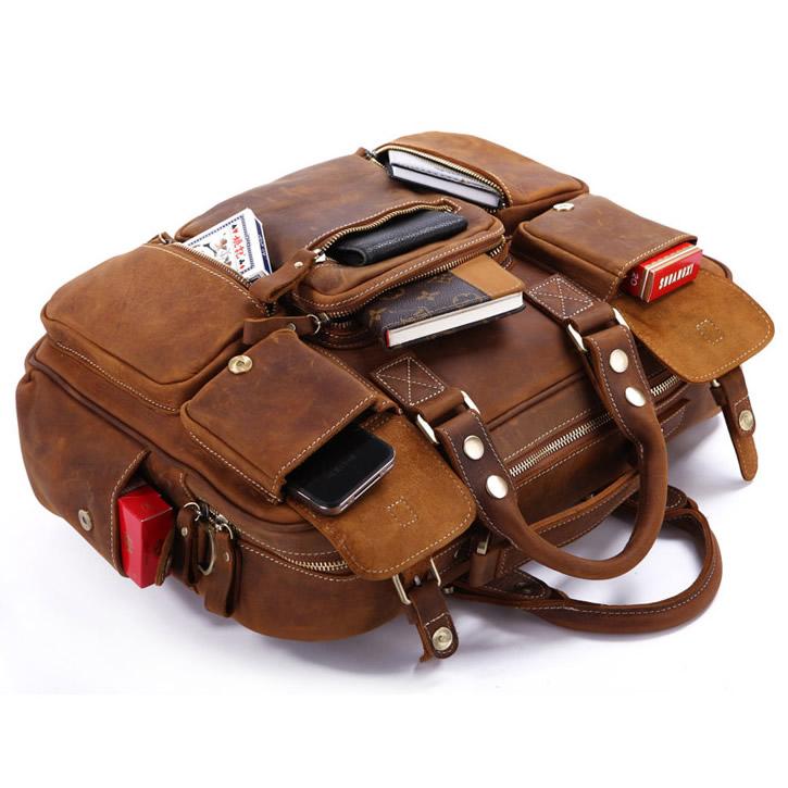 97f7a750c3 ... Large Handmade Vintage Leather Travel Bag   Leather Messenger Bag    Overnight Bag   Duffle Bag ...