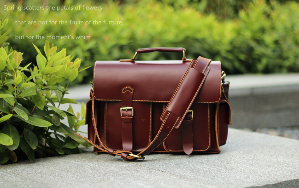 50bc99801 Handmade Leather Messenger Bag / Leather Briefcase / Leather Satchel / 13