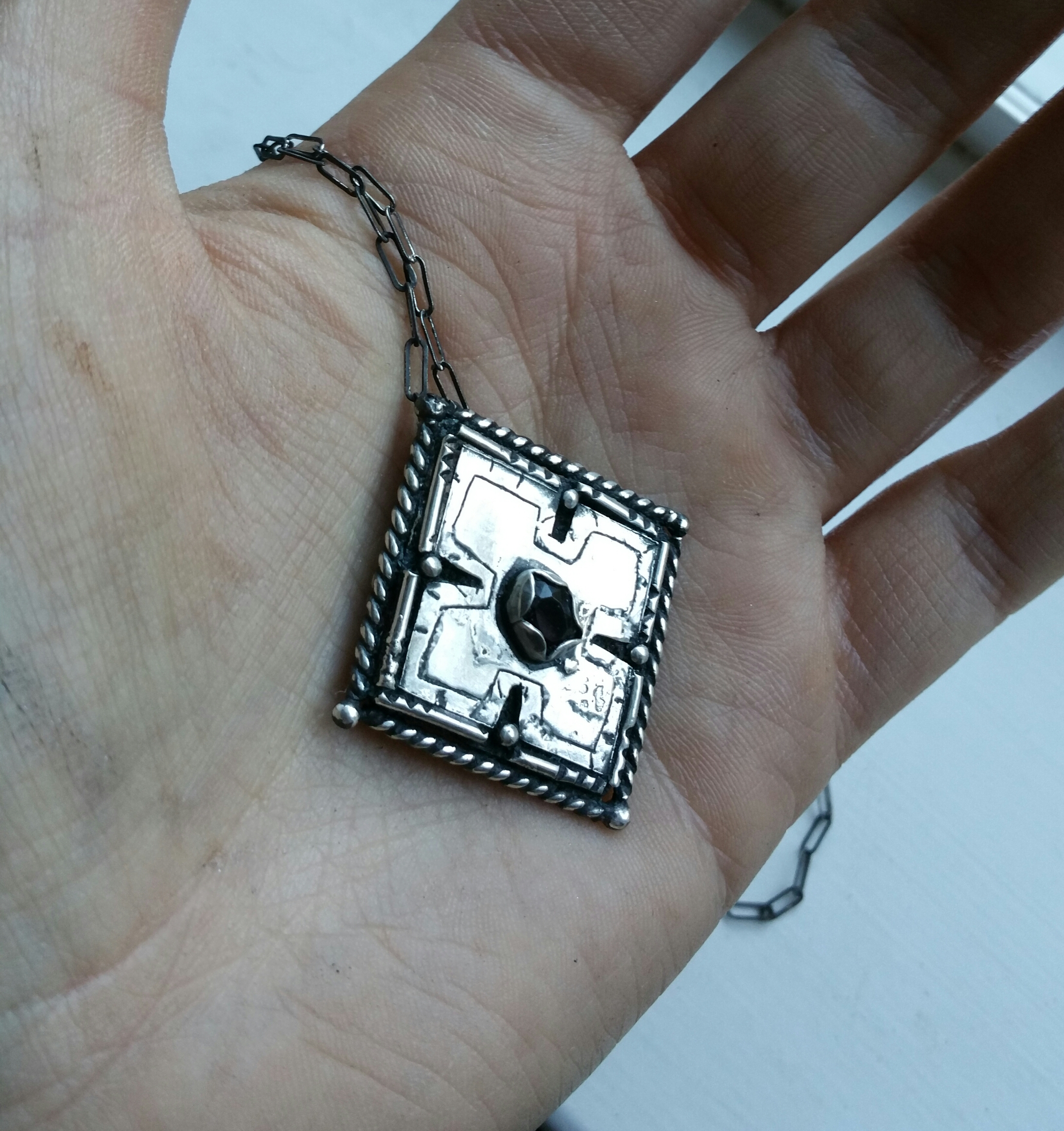 Sterling Silver Gears Of War Locust Necklace On Storenvy