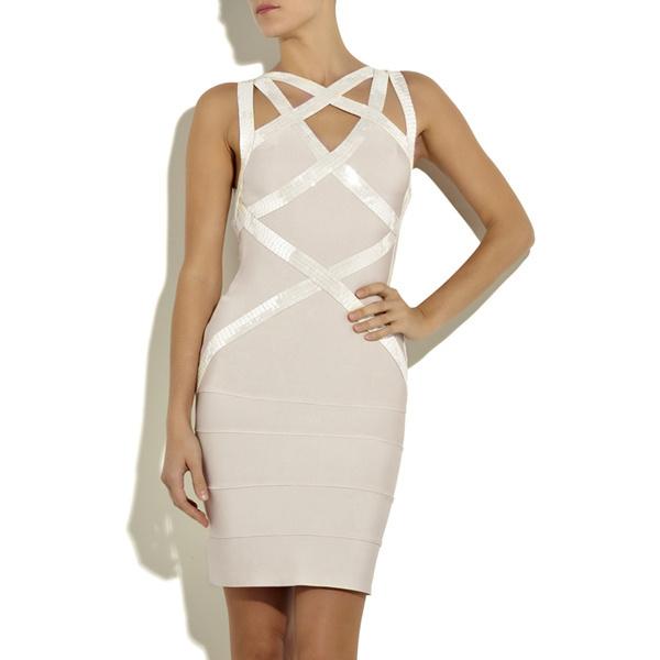 cbb7e2203fe7 ... Claudine Keane Sequined Strap Bandage Dress H014W - Thumbnail 2 ...