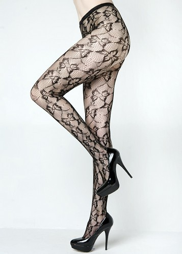 Lady's Women's Queen Size Floral Butterfly Fashion Designed Fishnet  Pantyhose Tights Stockings Hosiery