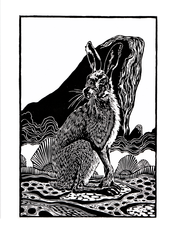 Quot Hare Quot Limited Edition Linocut 163 22 On Storenvy