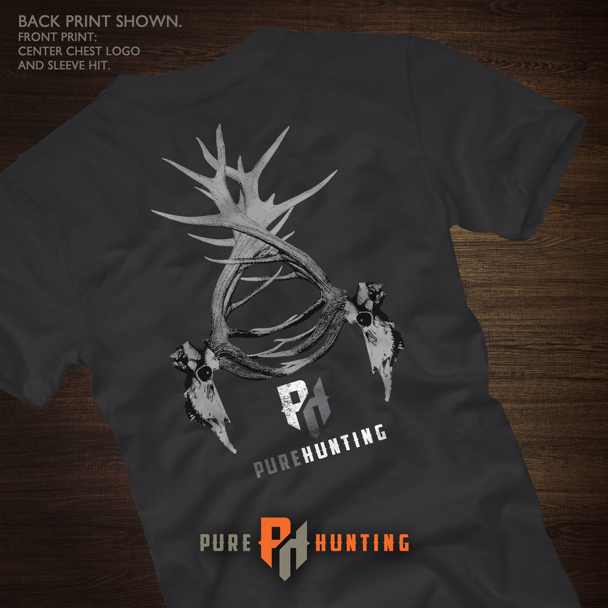 Pure Hunting Quot Elk Skull Quot T Shirt On Storenvy
