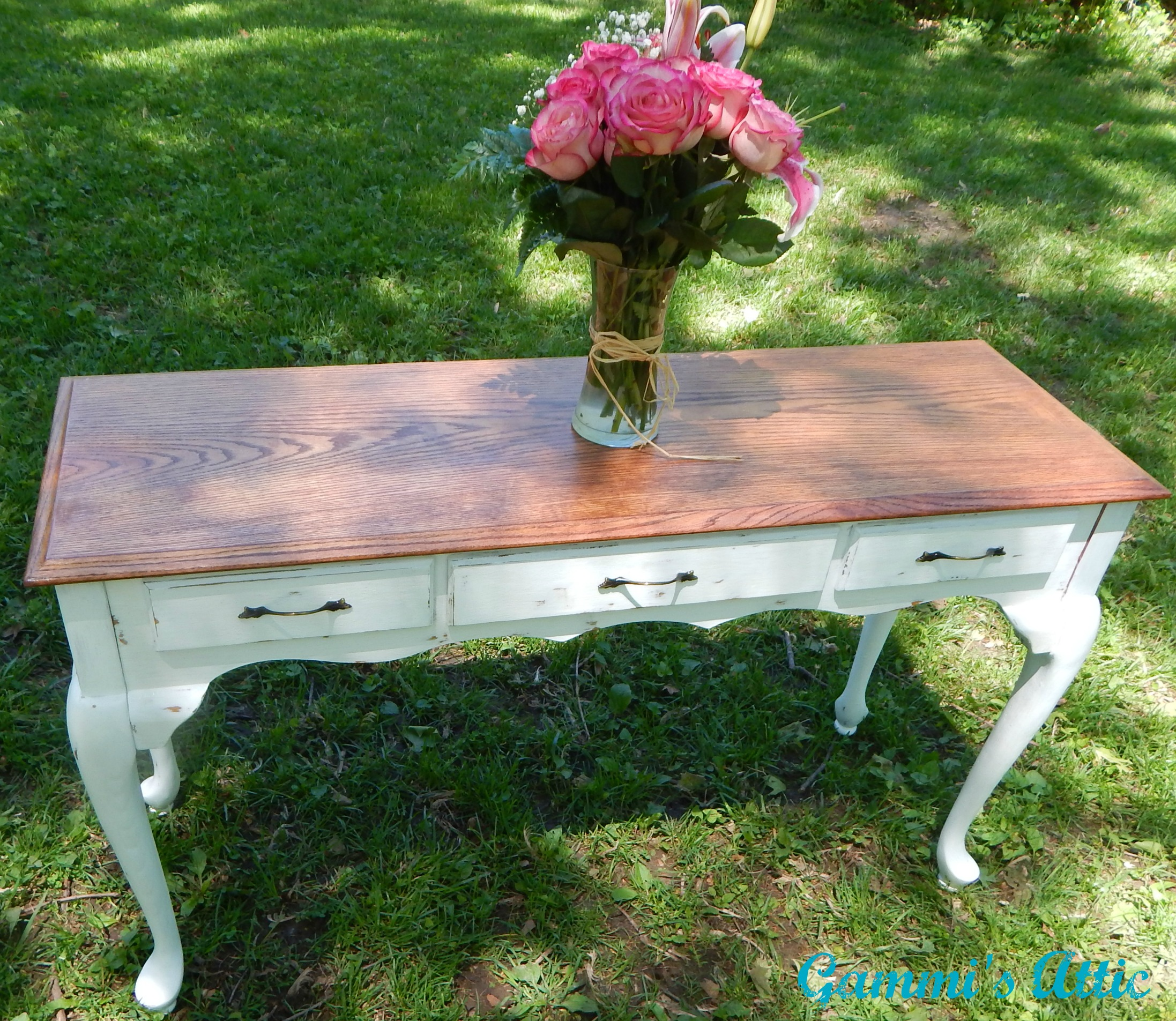 Distressed White Sofa Table Sold By Gammi S Attic
