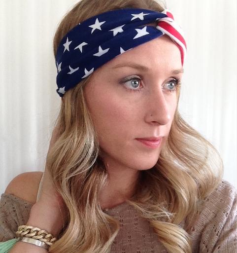 USA Headband - American Flag Headband - Headwrap - Turban - Headband -  Workout Headband - Yoga Headband sold by In a Dream Boutique