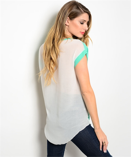 77e8c09cce High-Low Color Block Top · Envie Boutique · Online Store Powered by ...