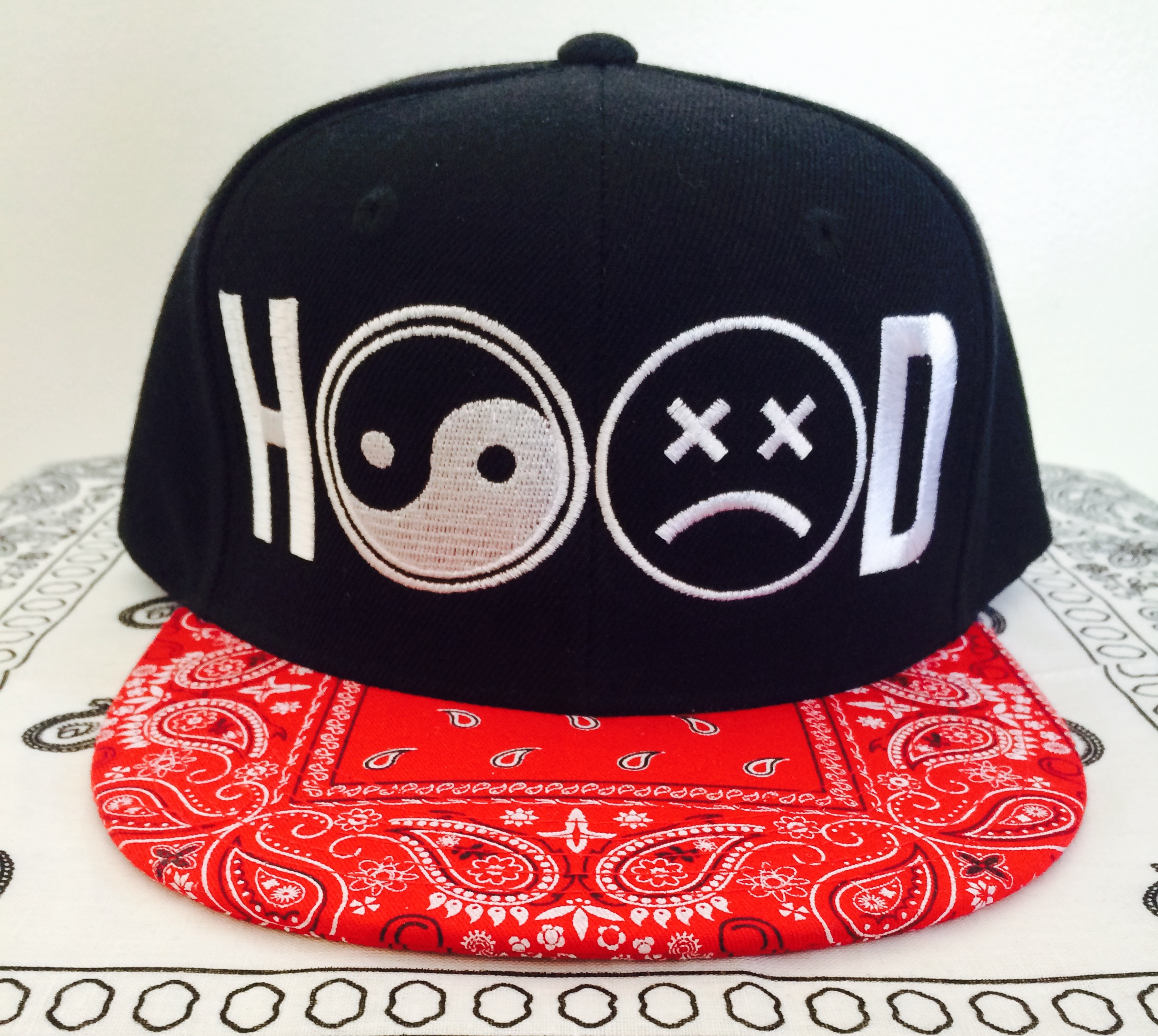 0822f34d3 HOOD Snapback - Red paisley from LURKER APPAREL