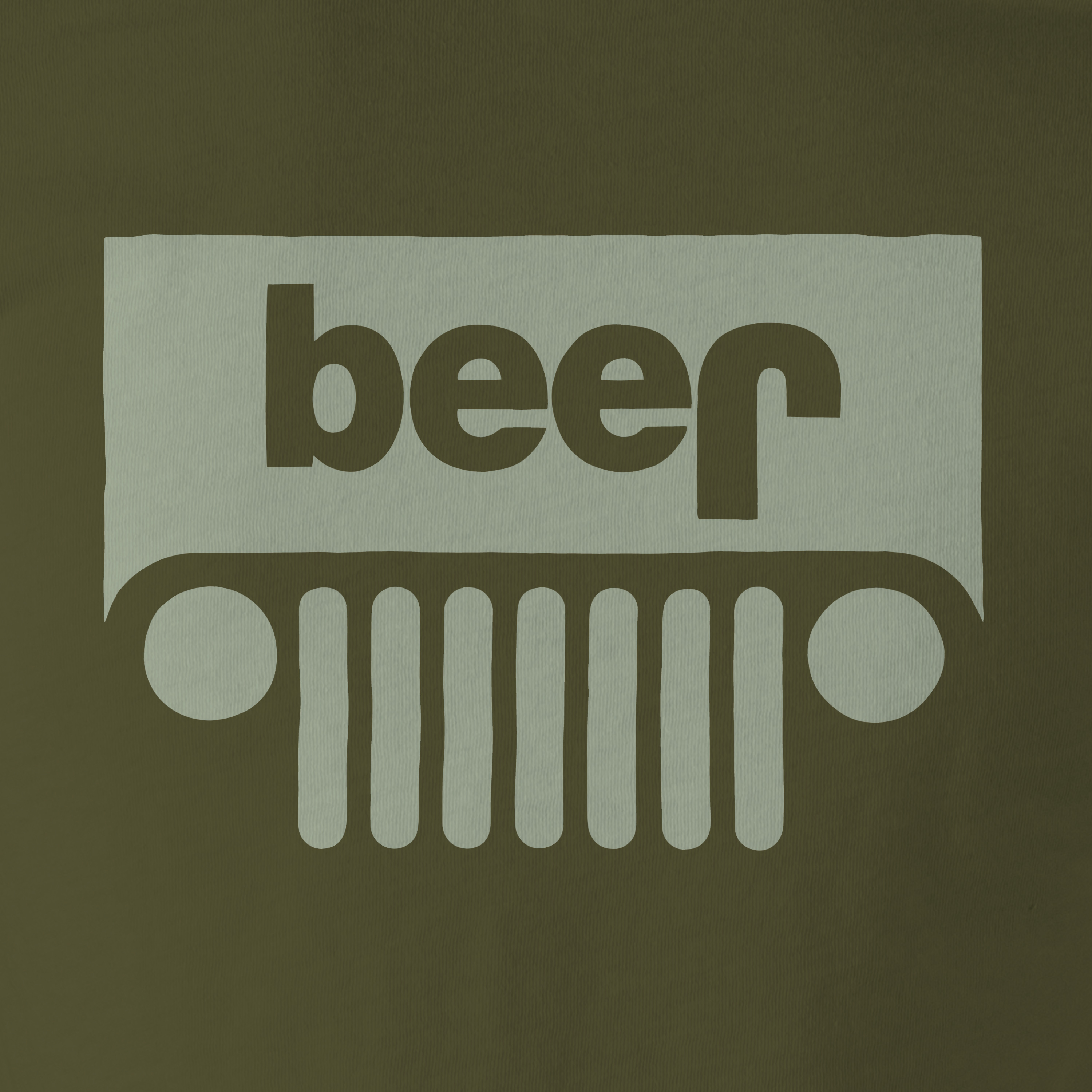 b72e7cdc Adult Funny JEEP BEER Logo T-shirt • College Drinking Tee • Military ...