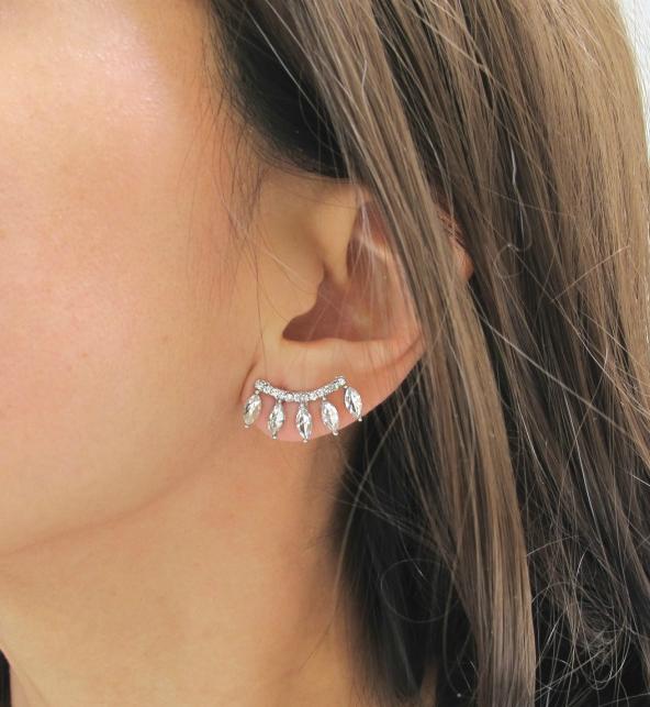b8daf0e7fa1ee Teardrop Ear Crawlers - Bling Earrings, Curved Earrings, Ear ...
