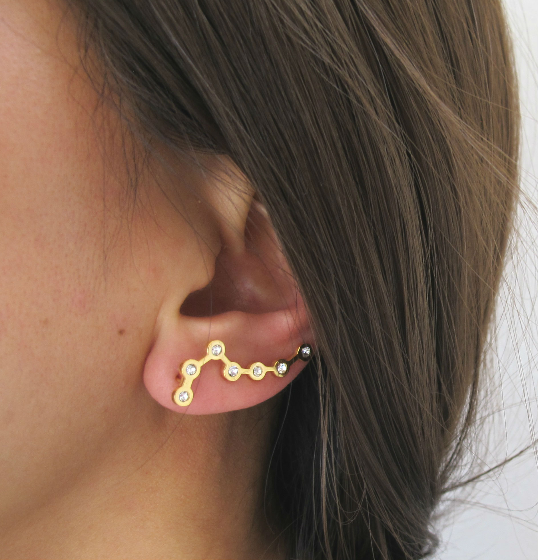 Big Dipper Earring - Single Ear Crawler, Star Ear Crawler, Big ...