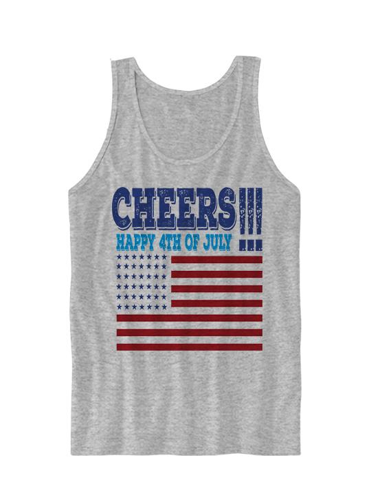 f532b4b3396 Happy 4th Of July Tank Top Cheers Tank #Cheers Ladies Tops Unisex Tees  Gifts #