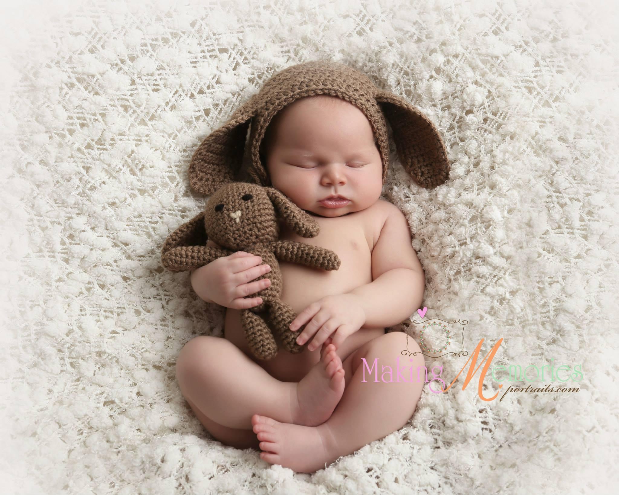 3be36ec3ebe Newborn bunny hat and crochet bunny rabbit bonnet and small rabbit crochet  bunny and bonnet set