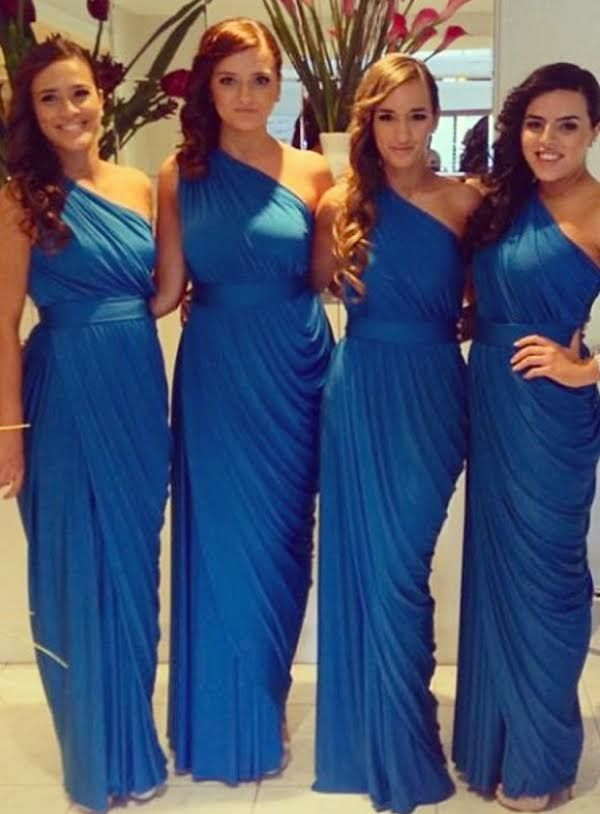 Long Bridesmaid Dresses Chiffon Bridesmaid Dresses Royal Blue