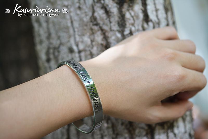 Always Keep Fighting Hand Stamped Supernatural Cuff Bracelet