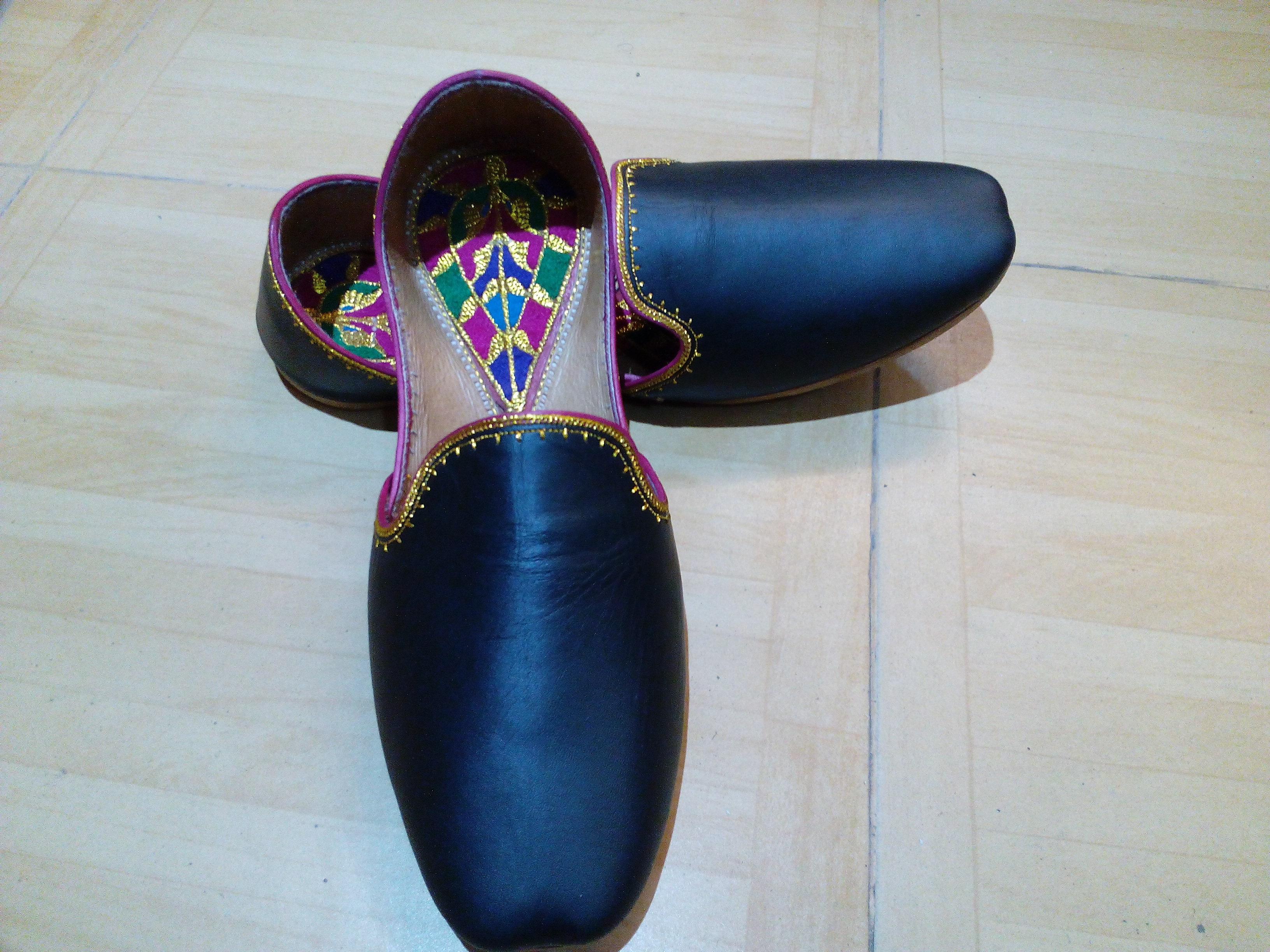 87e0b2966 FREE SHIPPING Unisex Handmade Leather Khussa Bridal Wedding Shoes on ...