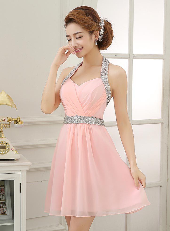 Homecoming dress, Short prom dress, chiffon