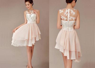2b8f5e06bab Lace bridesmaid dresses, short bridesmaid dress, hi-lo bridesmaid dress,  cheap bridesmaid