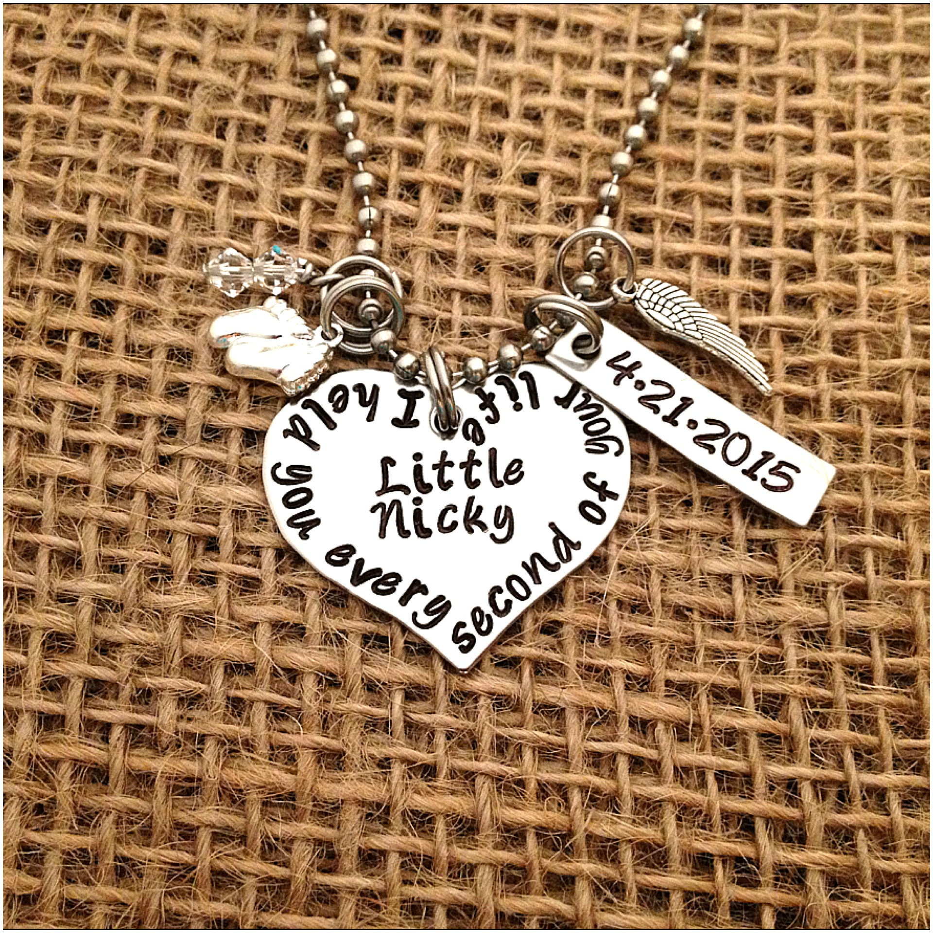 a your mess necklace make abeautifulmess pendant stamped hand beautiful own handstamped com