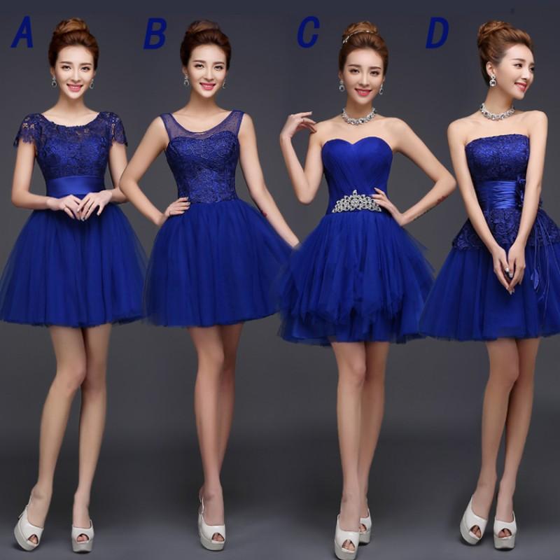 9dd31f89458e Blue bridesmaid dresses, lace bridesmaid dresses, tulle bridesmaid dresses,short  bridesmaid dress,
