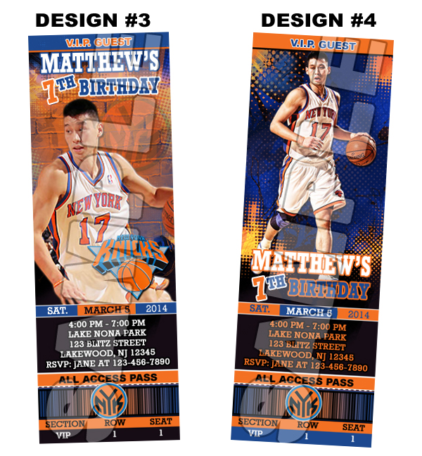 graphic relating to Knicks Printable Schedule known as Fresh new York Knicks Ticket Birthday occasion invites - Printable