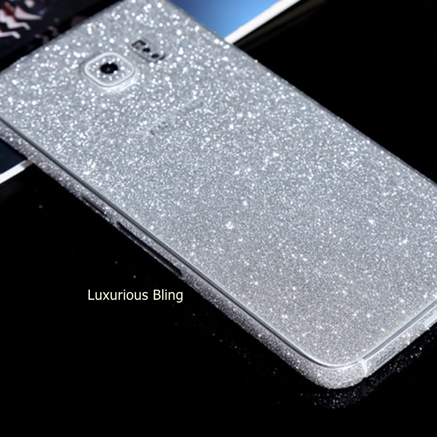detailed look 949af bdca4 Silver Glitter Sticker Skin Samsung Galaxy S6 from Luxurious Bling