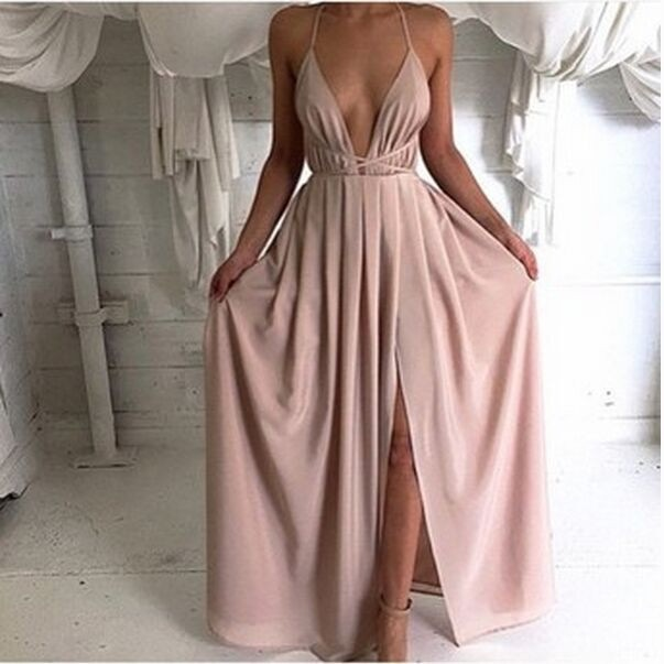 4e1a55a7db18ea Sexy deep v-neck sleeveless dresses GVD35ED · MegaFashion · Online ...