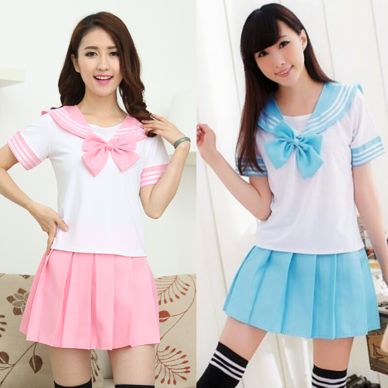 b91cb2ab1a Japanese student uniforms skirt two-piece outfit on Storenvy