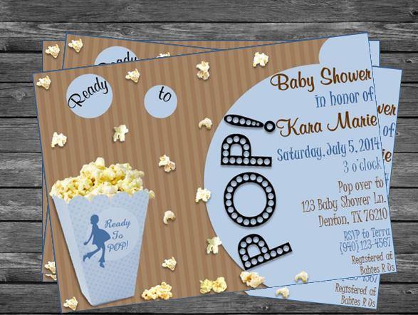 Ready to pop popcorn baby shower invitation for boys on storenvy ready 20to 20pop 20 20popcorn 20 20boy original filmwisefo