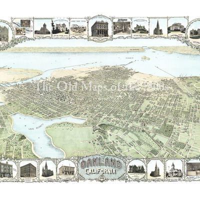 Mitchells south carolina in 1849 state map restoration vintage oakland california in 1900 birds eye view map aerial panorama publicscrutiny Image collections