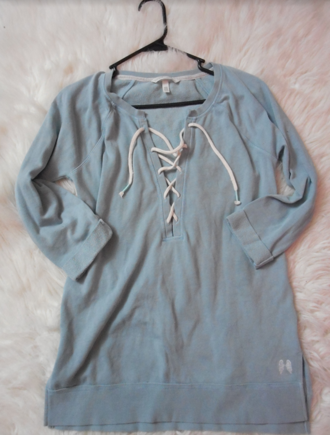 da72a7785f8d61 Victoria's Secret Blue Lace Up Tunic on Storenvy