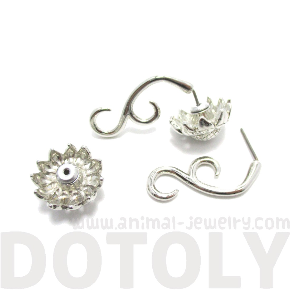 gauges that look like earrings sunflower flower shaped stud earrings in 9774