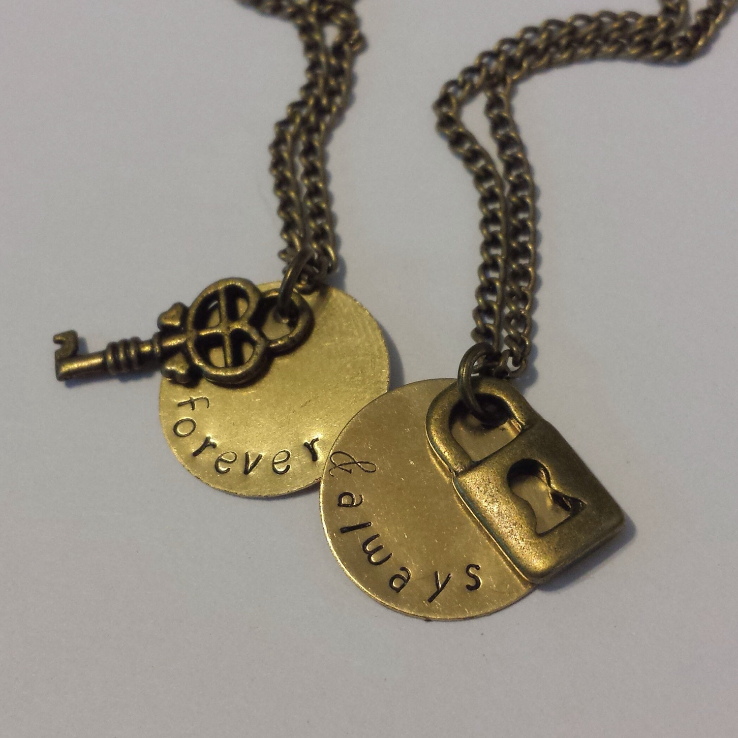 4762e6bf3a Forever and Always Necklace Set - Couple Necklaces - Custom Necklace ...