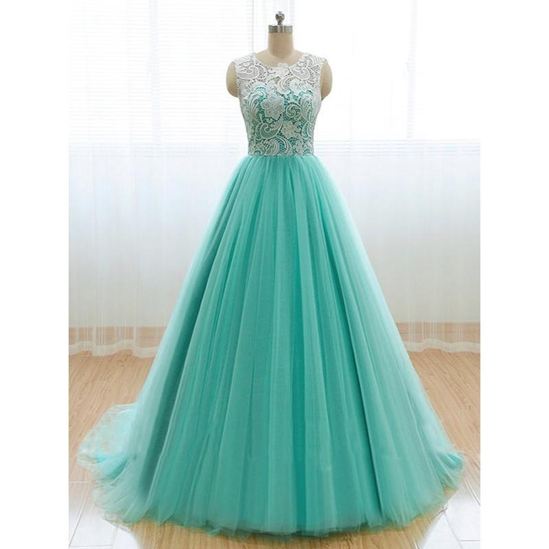 Mint Lace Prom Dress A Line Prom Dress Long Prom Dress 2017 Prom