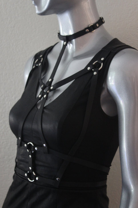 Leather Harness Women Body Harnes Leather Harness Belt