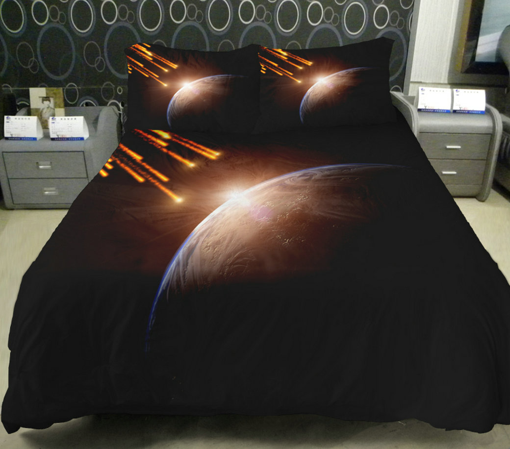 Anlye Hotel Collection Bedding Set 2 Sides Printing Out Space Quilt Duvet  Covers Sets Out Space Bed Sheets With 2 With 2 Throw Pillow Covers from ...