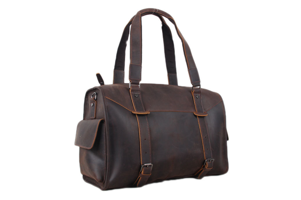 017db2ee4ad1 Extra Large Genuine Leather Travel Bag, Men Duffle Bag, Travel Tote Bag 3002