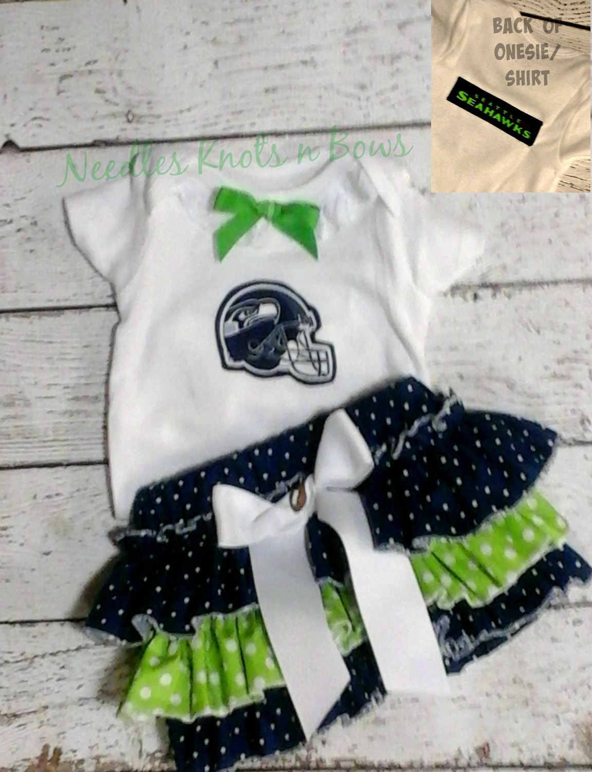 best service a448a 14b46 Girls Seattle Seahawks Cheerleader Outfits, Baby Girls Seahawks Football  Outfit, Baby Shower Gift, Toddlers Football Outfit, Gift Idea from Needles  ...