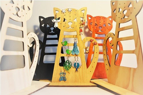 Large Jewelry Holder Cat Wooden Jewelry Stand An Alternative To A Jewelry Box Jewelry Storage Gift Ideas Jewelry Display Cinkylinky Online Store Powered By Storenvy