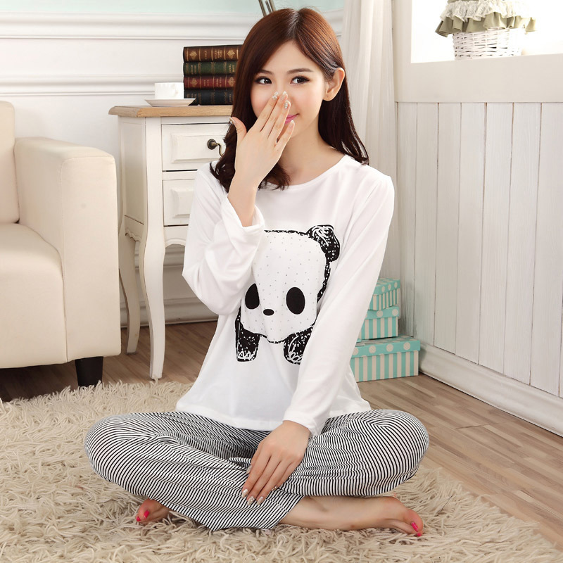 c042d0732c New 2015 autumn winter womens pajama sets o neck long sleeve women  sleepwear pajamas girls kigurumi