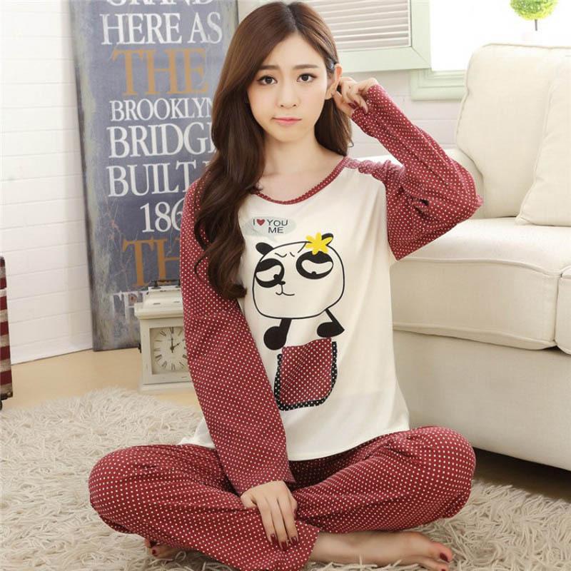 0d99a1cda2 New 2015 autumn winter womens pajama sets o neck long sleeve women  sleepwear pajamas girls kigurumi