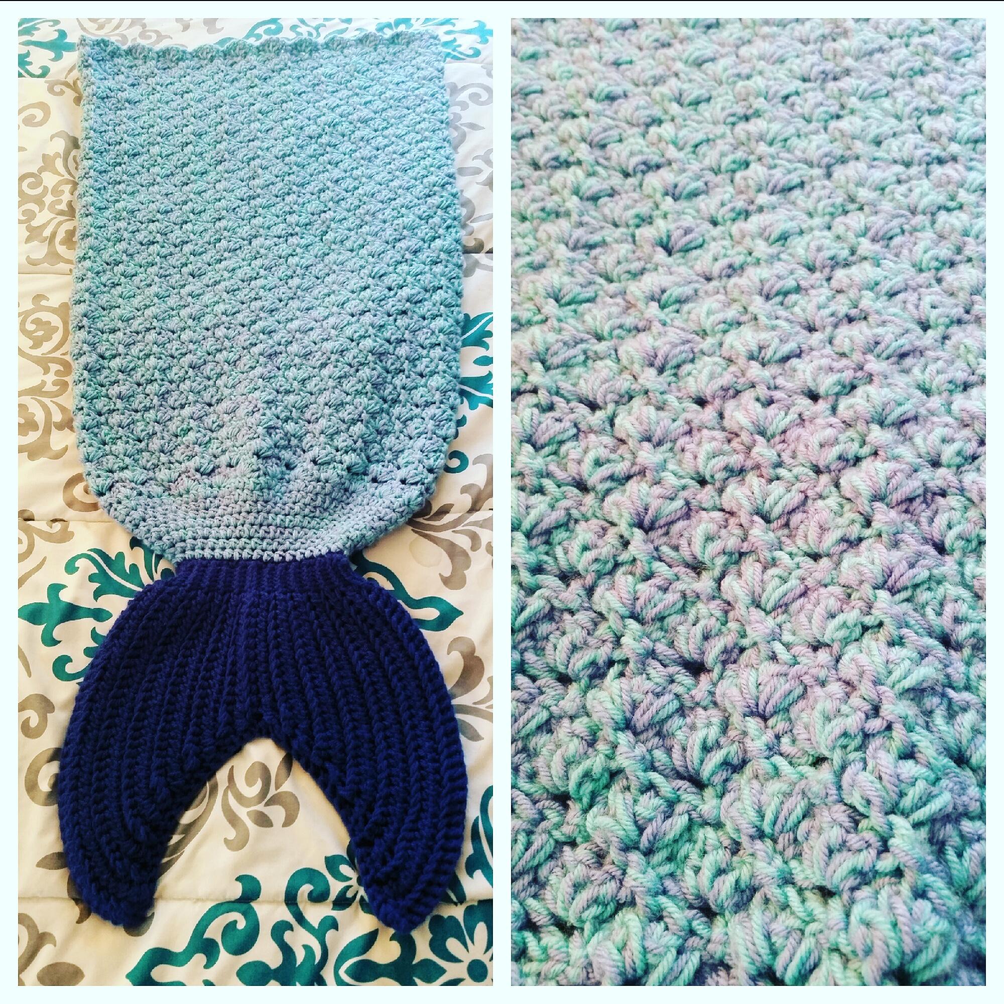Custom Crochet Mermaid Tail Blanket Size Teenadult Love A