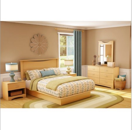 6 Drawer Dresser Modern Bedroom Chest in Natural Maple Finish from Flair  for Your Lair