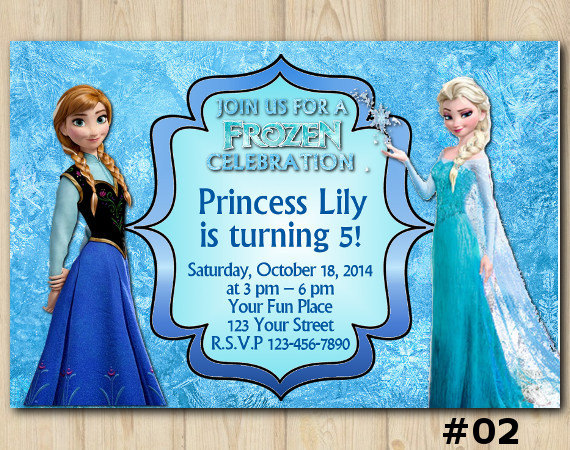 picture regarding Frozen Birthday Card Printable identify FROZEN INVITATION, Disney Frozen Birthday Invitation, Frozen Birthday Get together, Disney Elsa Anna, personalized invite (002) bought through Do-it-yourself Celebration Printables