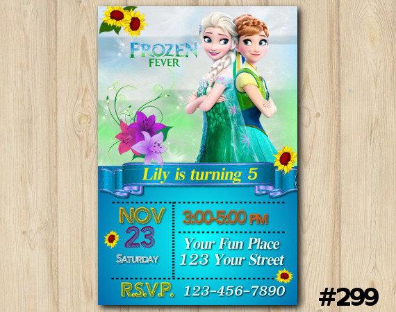 Frozen Fever Bday Invitation Custom Printable Invite 299 From Diy Party Printables